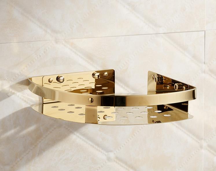 Bathroom Single  Rack  Bathroom Accessories Copper plating  Stainless Steel<br><br>Aliexpress
