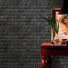 60x60cm PE Foam 3D Wall Stickers Safty Home Decor Wallpaper DIY Wall Decor Brick Living Room Kids Bedroom Decorative Sticker