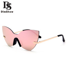 2017 New Fashion Rimless Sunglasses Women Oversized Cat Eye Glasses Clothing Accessories Retro Sun Glasses sonnenbrille Gafas