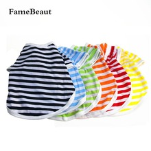 2016 NEW Summer Service Pet Dog Vest Shirts Clothing  Cotton Striped Vests T-shirt Coat Clothes For Small Dogs Costumes