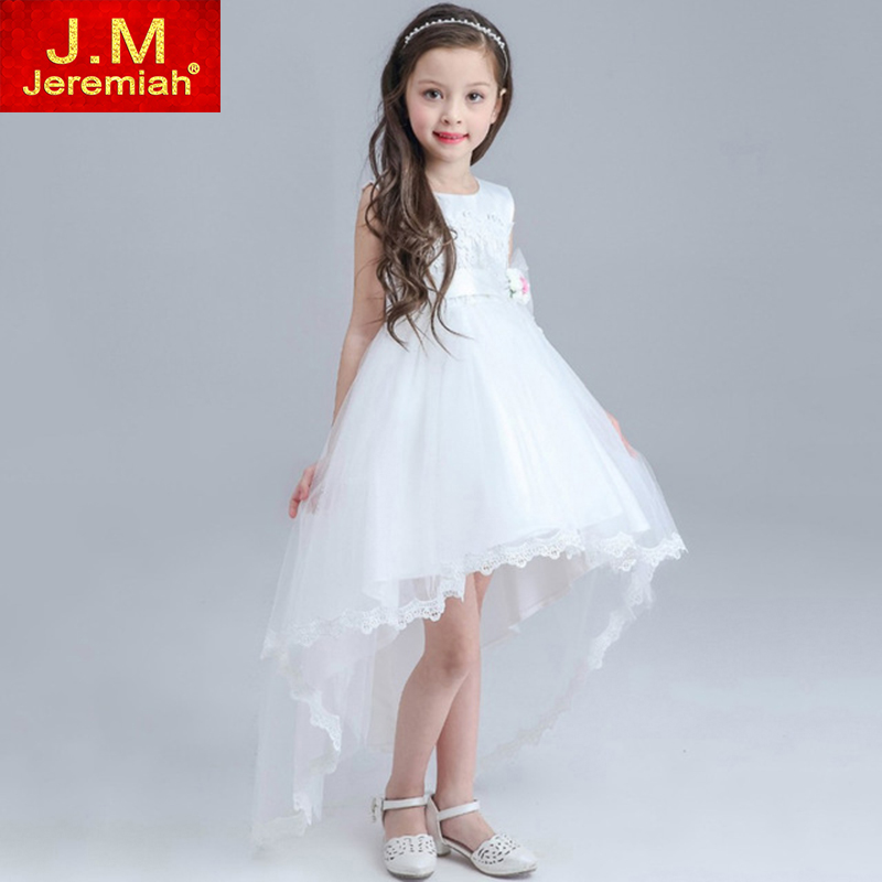 JEREMIAH First Communion Dresses For Girls Kids Prom Evening Gowns Kids Wedding Birthday Party Dresses White Flower Girl Dress<br><br>Aliexpress