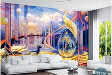 Custom 3d photo wallpaper 3d wall murals wallpaper Europe and the United States Space TV backdrop Peacock wallpaper living room