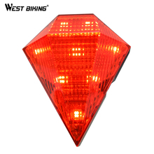 WESTBiKING cycle Rear Light Diamond Laser Waterproof Lamp Warning Flashlight Led Mountain Road Bike Cycling Bicycle Tail Light(China)