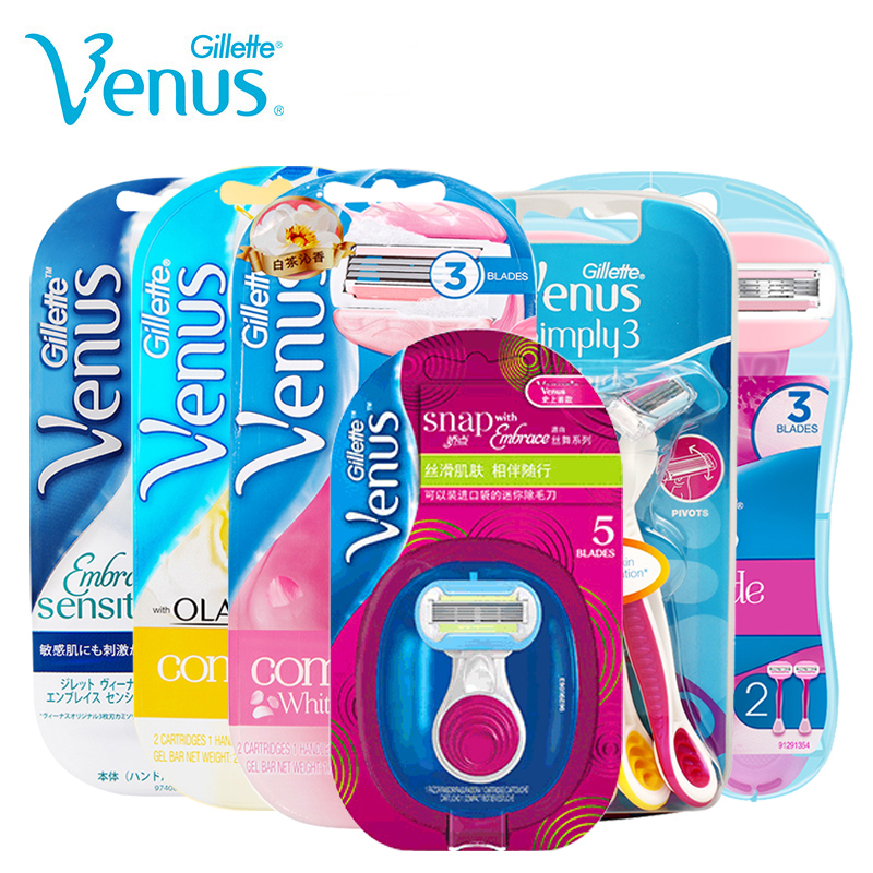 Gillette Venus Razor for Women Shaving Blade for Girls Hair Removal Ultra Thin Layers Blade with Lubricating Soap Safty Razor