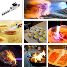 Metal Flame Welding Gas Torch Lighter Heating Ignition Butane Portable Camping Welding Gas Torch For BBQ KO886097