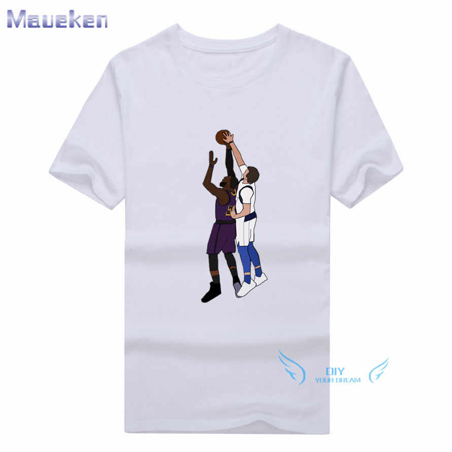 Detail Feedback Questions about 2019 Summer Luka Doncic Blocks Lebron James  100% cotton funny t shirt for fans gift t shirts on Aliexpress.com  c6319a210
