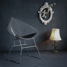 Modern Design Harry Bertoia Diamond Steel Wire Chair Diamond loft metal Chair pad Modern Diamond Wire Chair leisure cafe chair