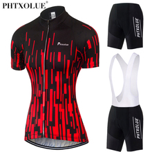 Phtxolue Women Team Cycling Clothing 2017 Black Red Breathable Bike Bicycle Wear Maillot Ciclismo Jersey Cycling Set QY0340(China)