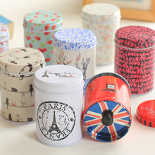 1pcs elegant double layer seal Tea caddy receive box candy storage box wedding favor tin box cable organizer container household