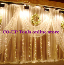 New 600 Leds 8 Models 6m x 3m Curtain String Lights Fow Window Fairy Christmas Lighting Cristmas String Outdoor Home Decorations