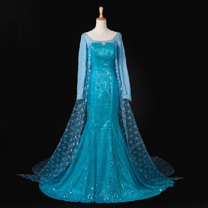 Fashion princess elsa dress for adult halloween costumes for women<br>