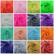 Free shipping 102colors in stock Chiffon fabric soft fabric for dress lining cloth material 100d georgette fabrics wedding DIY