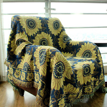 CHAUSUB Thick Cotton Throw Blanket Winter Home Sofa Blankets Piano Cover European Bedding Bed Cover Carpet Jacquard Coverlet(China)