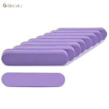 20pcs/lot Mini Nail File Buffer Block Purple Sponge Nail Buffer emery board Nail Sanding File 100/180 Sandpaper Accessorie Nails
