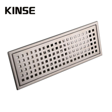 304 Stainless Steel 300 x 110mm Square Brushed Surface High Flow Floor Drain Bathroom Shower Floor Drains(China)