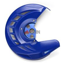 Blue Front Brake Disc Guard Protector Cover For Yamaha WR 250 450 F 2006-2015 & For Yamaha YZ 125 250 2008-2016