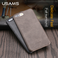 For Coque iphone 7 Case 4.7 inch USAMS Bob Series PU Leather Case for iphone 7 Plus 5.5 inch Phone Case Cover Bags & Cases