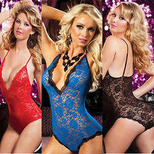 XXL 3XL 4XL Sexy Babydoll Lingerie Dress Chemise Outfit Plus Size 12 14 16 18 20(China)