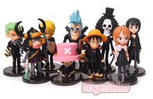 2015 New 5-8cm One Piece luffy Joba black 9pcs/set PVC Action Figure Collection Model Toy Gift OP9#3(China)