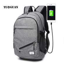 TUGUAN 2017 NEW Fashion Men Backpacks College Student School Backpack Bags for Teenagers Casual Laptop Backbag Travel Daypack