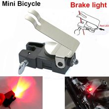Mini Battery Powered Bike Brake Light MTB Road Bicycle Safety Warning Wheel Spokes Tail Rear Red LED Lamp Cycling Accessories