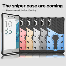 For Sony Xperia XZ PC + Silicone 3D Heavy Duty Military Anti Shock Kickstand Armor Case For Sony Xperia XZ case