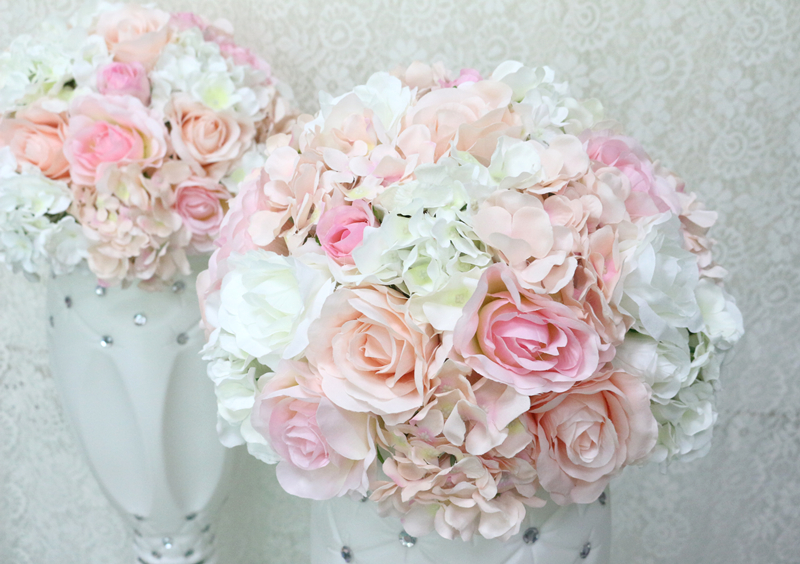JAROWN Artificial Wedding Flower Ball Simulation Rose Hydrangea Flowers Hemisphere Roman Column Decor Home Party Decor Flores (11)