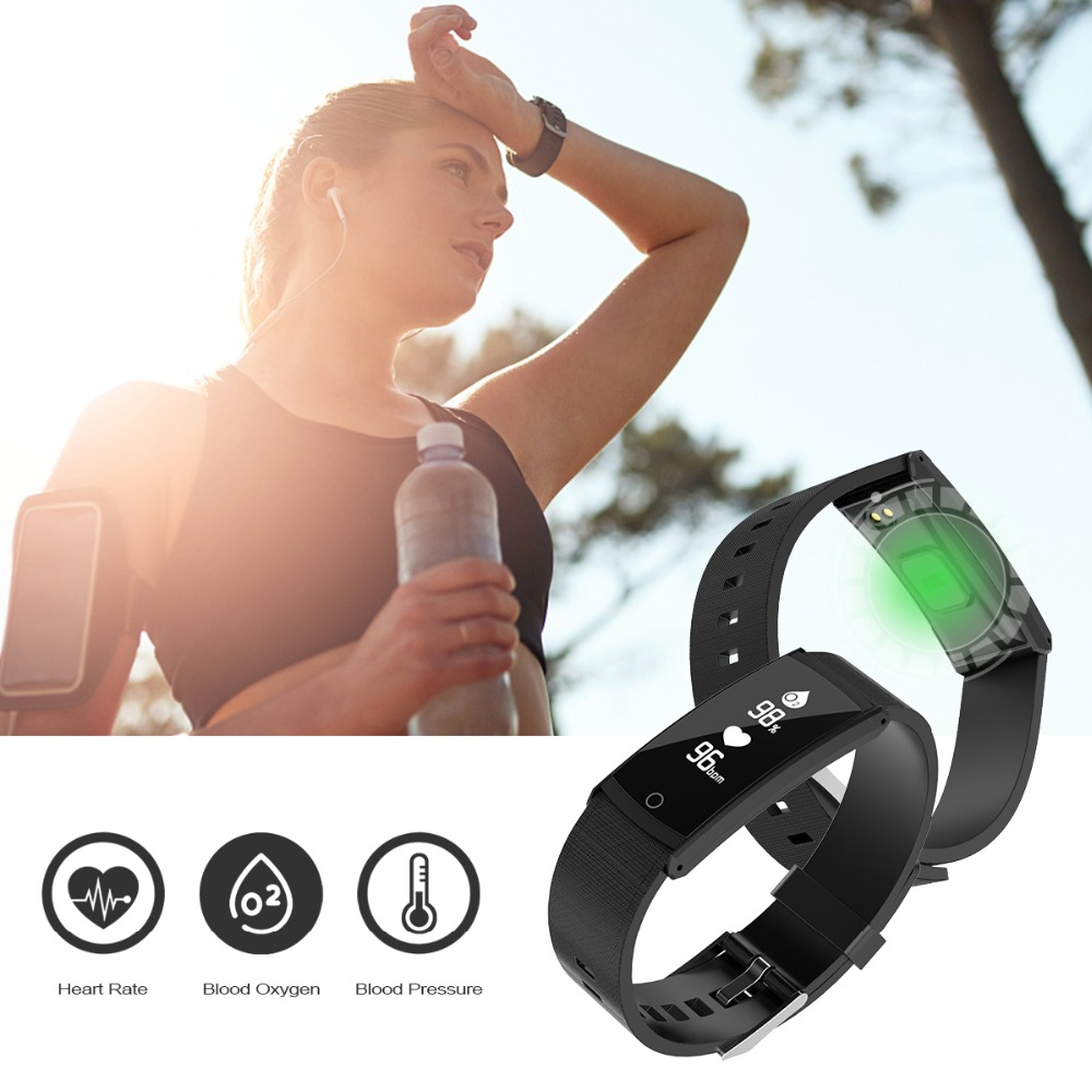 SOONHUA S6 Smart Bracelet Pedometer Heart Rate Blood Oxygen Blood Pressure Monitor Sleep Monitor Fitness Tracker Wristband Watch