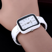 Hot sale new style rectangle watch fashion casual Women elegant wristwatch crystal quartz female bangle watches feminino relojes