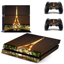 Pro Gamer For Eiffel Tower Skins For Sony Play station 4 Controller Decal Sticker For PS4 Console Game Accessories