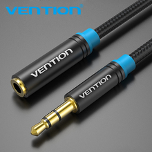 Vention Jack 3.5mm Male to Female Audio Cable Headphone Aux Audio Extension Cable 3m 5m for Computer Headphone Cellphone MP4(China)