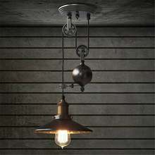High Quality Adjustable Length Ceiling Light E27 Vintage Retro Industrial DIY Iron Lights Lamp AC110-240V(China)
