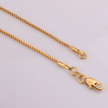 gold chain box necklace bridesmaid gift vintage jewlery wholesale luxury 16-30 inches rope chain necklace classic party gift