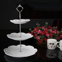 1 Set  3 Tier Three Layers Cake Plate Stand Holder Crown Shape Metal Rod Fitting Hardware Rod Plate Holder Kitchen Dining Cake