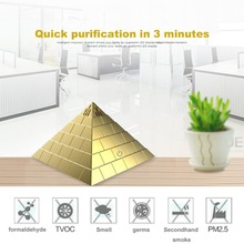 Stylish Innovative Pyramid Shape Mini USB Auto Air Purifier Cleaner Car Styling Car Air Freshener For Car Office And Home(China)