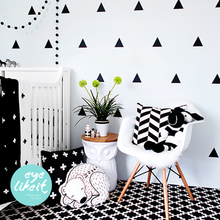 New Polka Triangle Wall Sticker Baby Nursery DIY Boho Triangle Wall Decal Kids Room Wall Art Children Room Cut Vinyl Wallpaper(China)