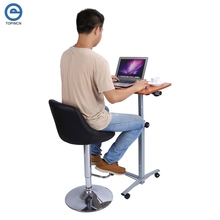 Adjustable Computer Table  Portable Rolling Laptop Notebook Desk Over Sofa Bed Computer Table Stand Convenient Laptop Desk