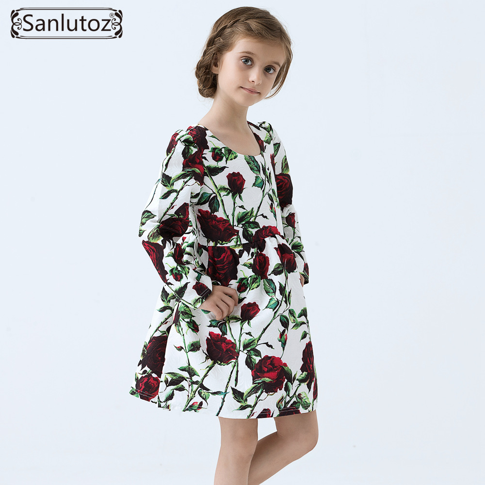 Girls Dress Winter Girls Clothing Flower Kids Clothes Brand Children Dress for Princess Holiday Party Wedding Baby Toddler<br><br>Aliexpress