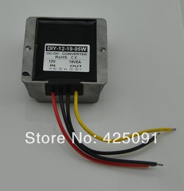 Converter 12V(9-19V) Step up to 19V 5A 95W DC Module Car Power Adaptor Regulator RoSH CE<br>