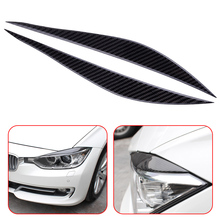 Buy CITALL Car 2Pcs Carbon Fiber Headlights Eyebrows Eyelids Front Headlamp Eyebrow Cover Trim Fit BMW 3 Series F30 2013 2014-17 for $18.70 in AliExpress store