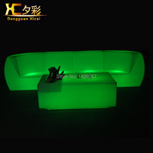 LED Sofa Luminous Plastic Couch Bar Furniture Table Color Changing Desk Stool For Living Room Wedding Ceremony Party(China)