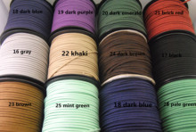 32ft(10meter) 12 Color Faux Suede Cord Handmade Jewelry Findings In Bulk DIY Necklace Bracelet 3x1.5mm(China)