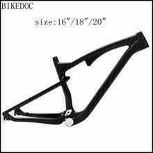 Buy BIKEDOC full suspension carbon mtb frame 650b mountain bike frame 27.5er full suspension mountain bike 2017 for $820.00 in AliExpress store