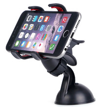 Car Windshield Mount car Holder Bracket stand For iphone 6s plus sucker clip phone holder For Samsung S7 Smart Phone GPS(China)