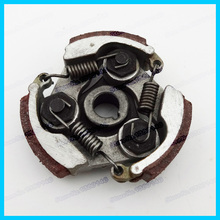 2 Stroke complete alloy clutch pads springs for 47cc 49cc gas minimoto pocket bike mini dirt bike crosser quad atv motorcycle