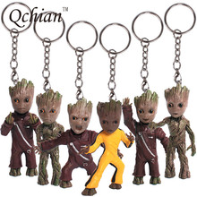 Guardians of the Galaxy Keychain Popular Funko Pop Keychain Dancing Groot Finger Potted Bobble Head Tree Man Juguetes Toy