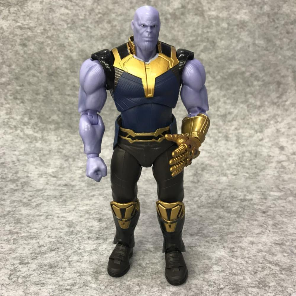 Avengers Infinity War Thanos Figure PVC Avengers Marvel Action Figures Thanos Toys Lighting Collectible Model Toy for children (5)