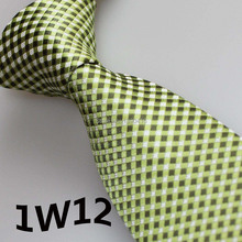 2017 Latest Stylet Brand Ties Army Green/White/Light Green Grid Striped Design Men's Designer Ties&Corbatas Hombre&Gentlemen Tie