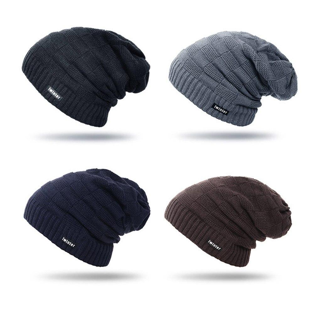 4a29b9fb687 Unisex Winter Fashion Cozy Thicken Warm Plush Knit Hat Solid Beanie Cap