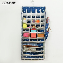 LDAJMW Multi Pockets Oxford Hanging Storage Bag Wall Mounted Hanging Organizer Pouch Underwear Bras Display Pouch Wardrobe Boxes(China)